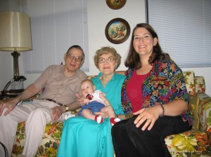 Me with my grandparents when baby girl was little.